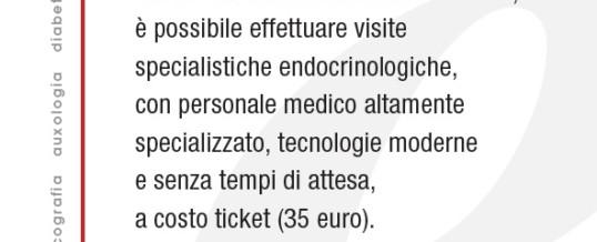 VISITA ENDOCRINOLOGICA (35 EURO)